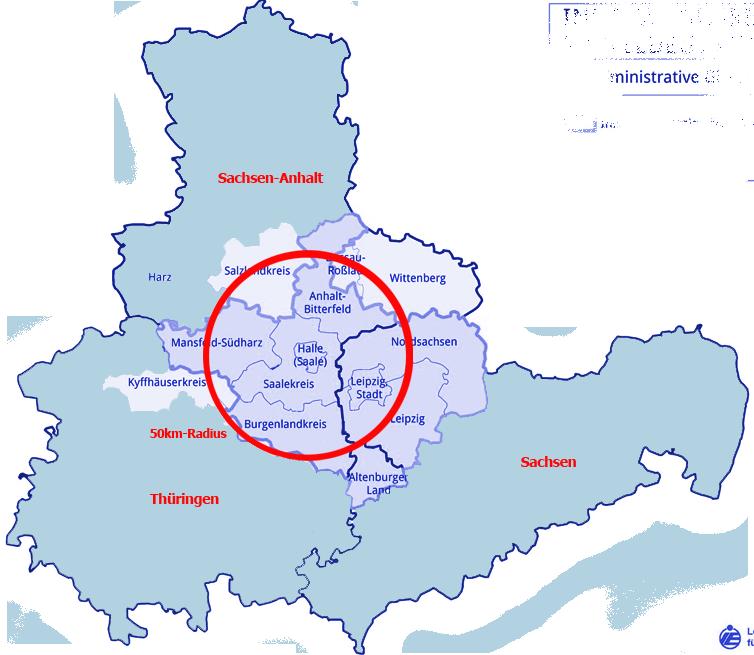 Einzugsgebiet von pdl-melzer